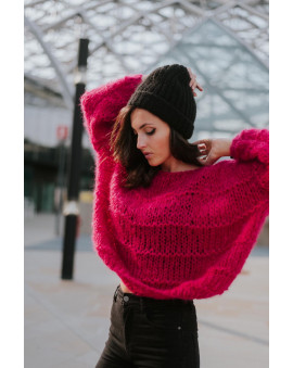 Color: Ultra Pink Mohair